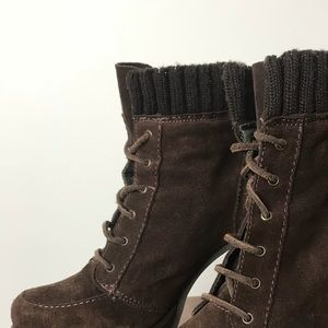 Brown suede Zara boots